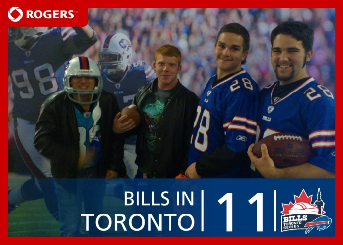 My friends and I at the Buffalo Bills game in Toronto, 2011
